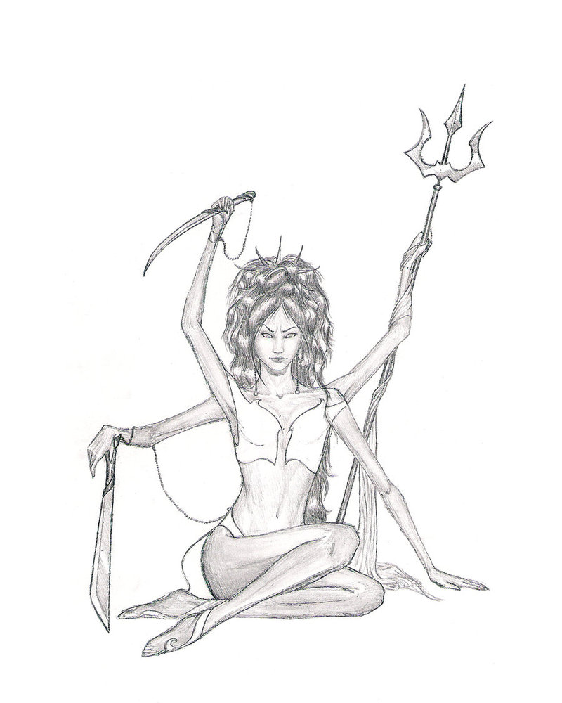 800x1000 Kali Goddess Of Destruction By Leywan