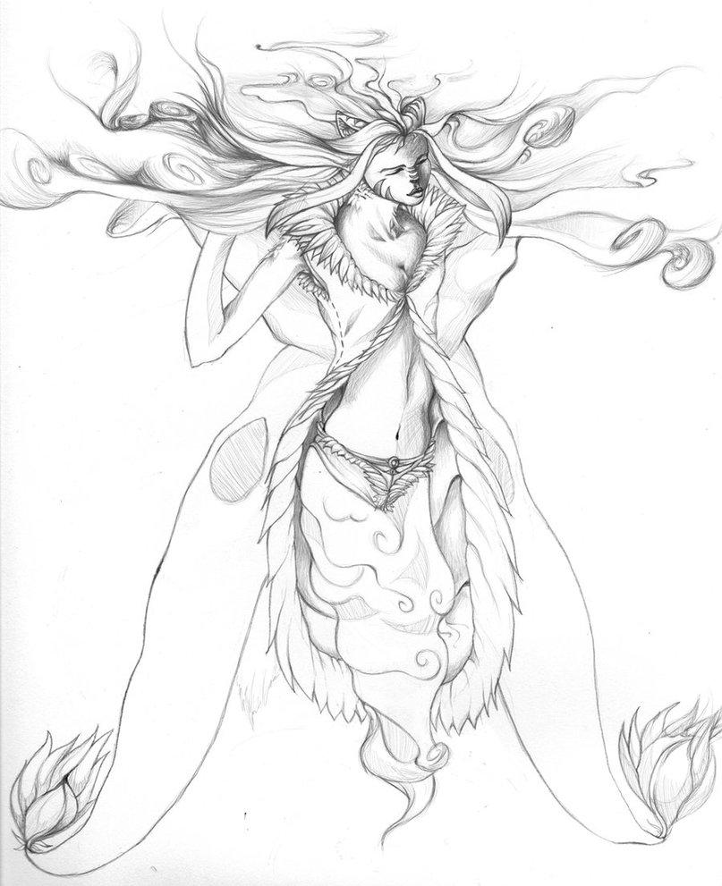 807x991 Wind Goddess By Azkai