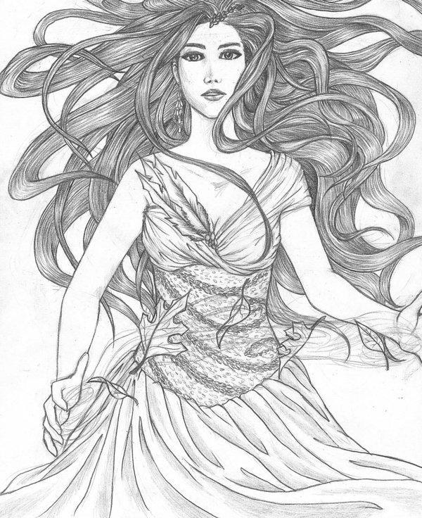 600x736 Wind Goddess Complete By Melibells My Original Art