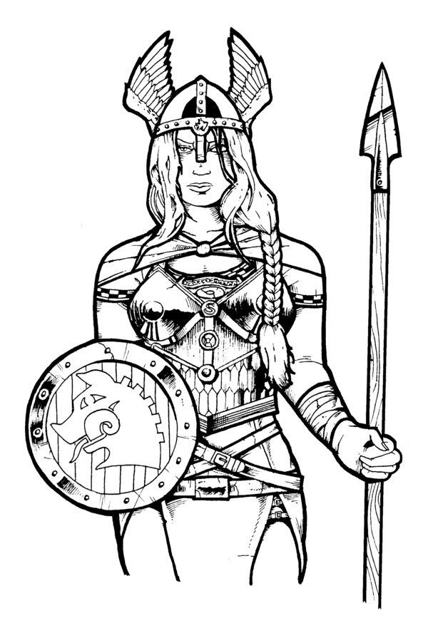 600x867 Freyja, Goddess Of Battle By Darkjimbo