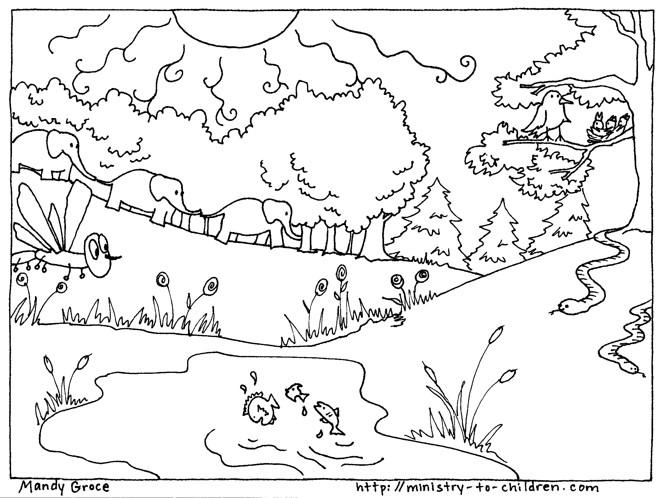2168x1624 God Created The World In 7 Days Coloring Pages Genesis Creation Of
