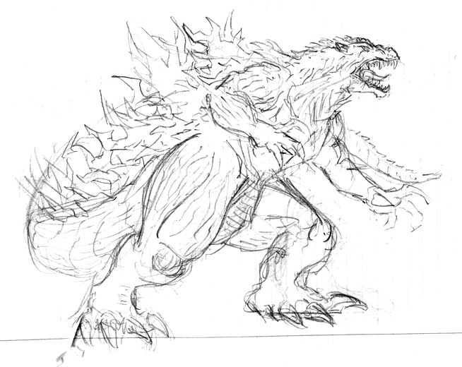 654x520 godzilla 2000 sketch by art minion andrew0 on deviantart