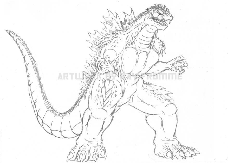 Delightful 877x637 Godzilla Fan Fic Sketch By AlmightyRayzilla On DeviantArt