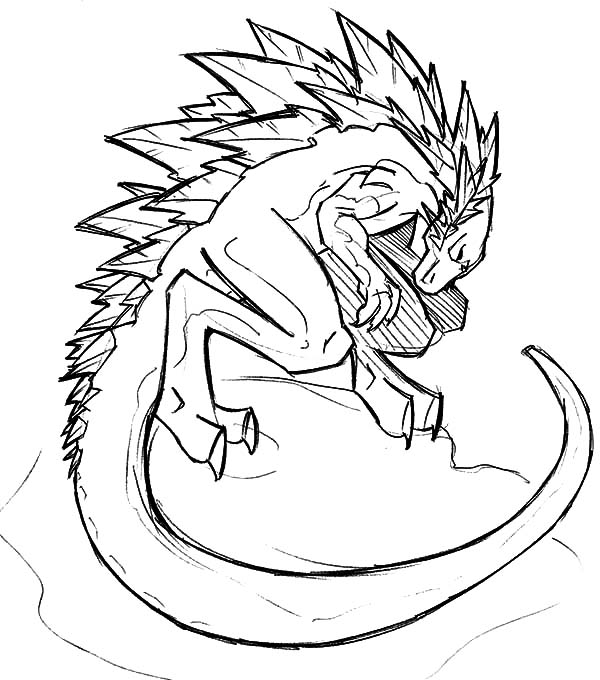 600x680 drawing godzilla coloring pages color luna