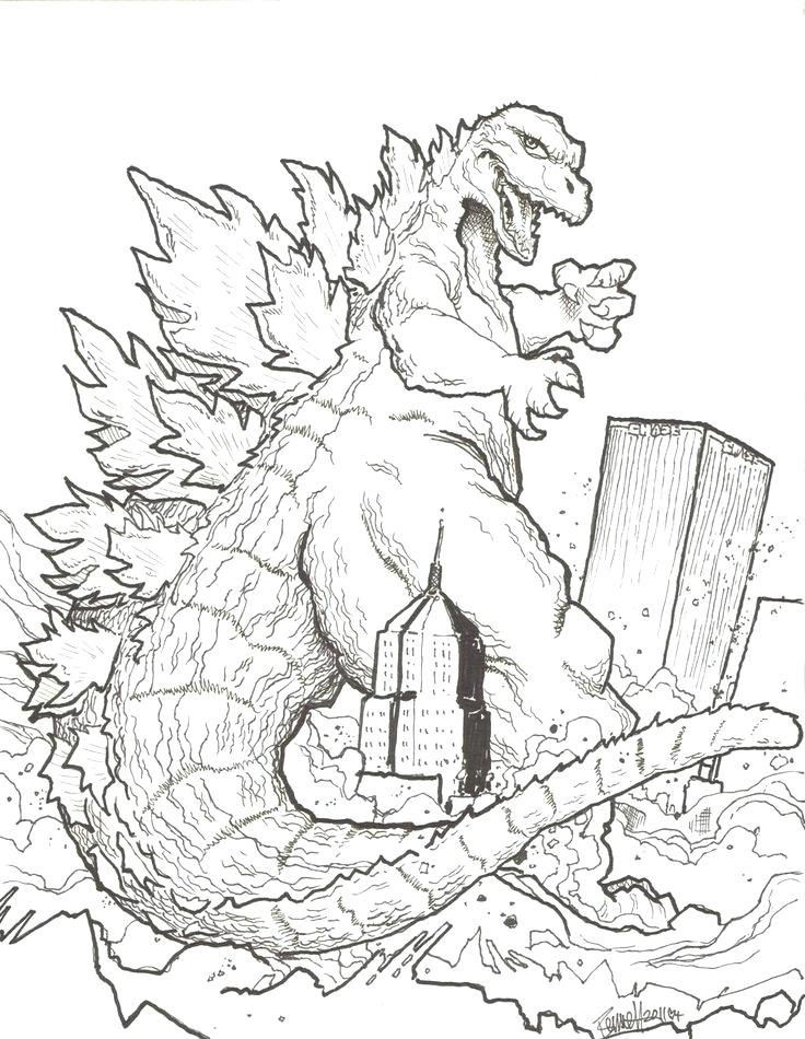 godzilla drawing at getdrawings com free for personal use godzilla