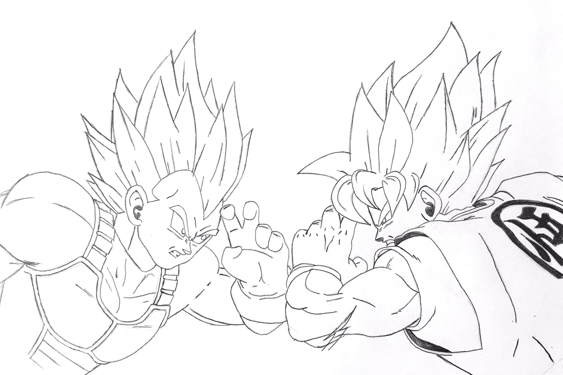 Goku And Vegeta Drawing