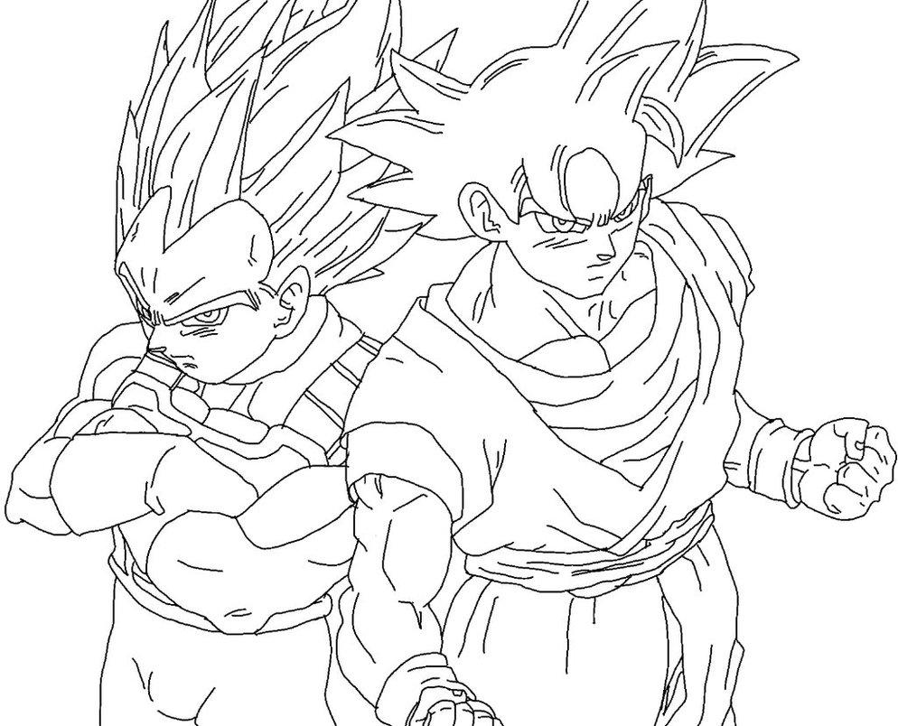 994x804 Goku Ultra Instinct And Vegeta New Form Drawing By Dbzfan2827
