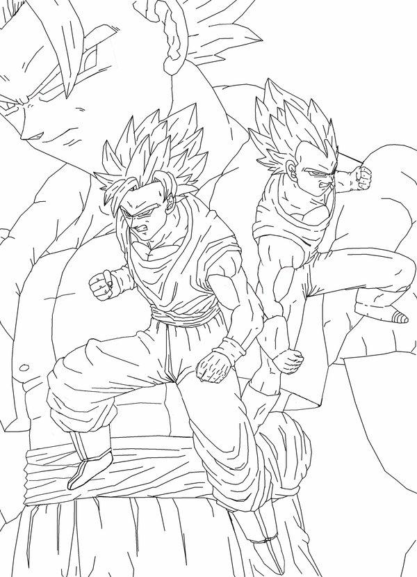 600x829 Goku Vegeta Gogeta Drawing By Shollisdj