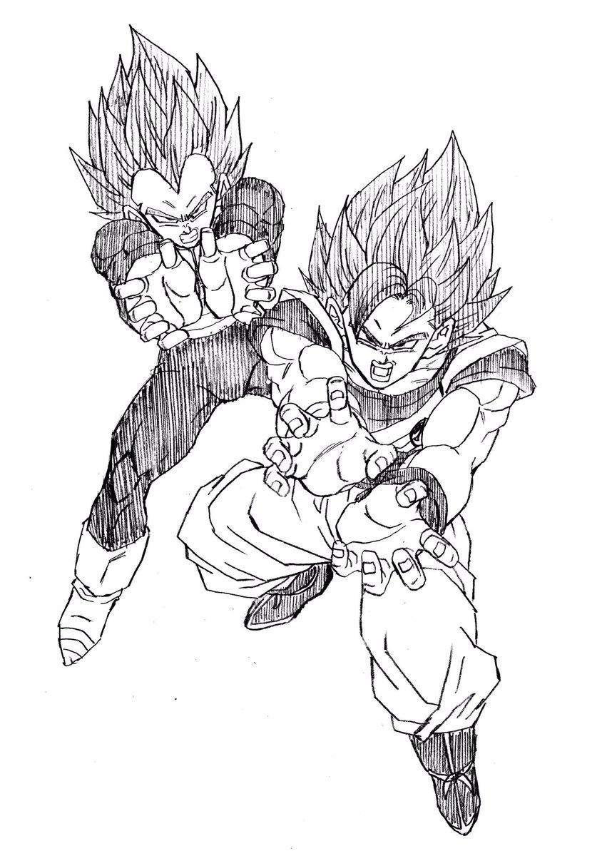 858x1200 Goku Amp Vegeta Ssb Final Kamehameha Dbz Goku