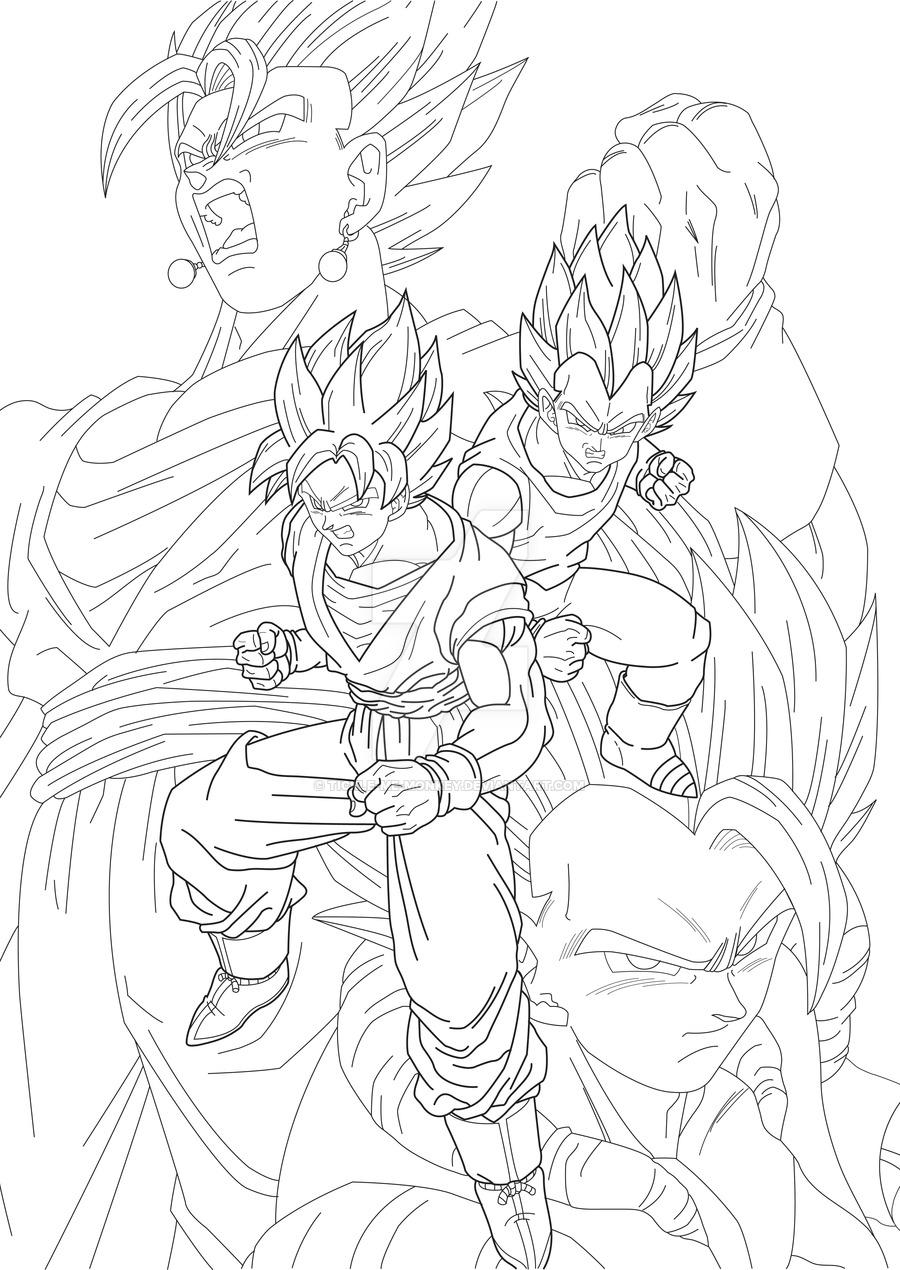 900x1270 Goku And Vegeta By Tickle Me Monkey