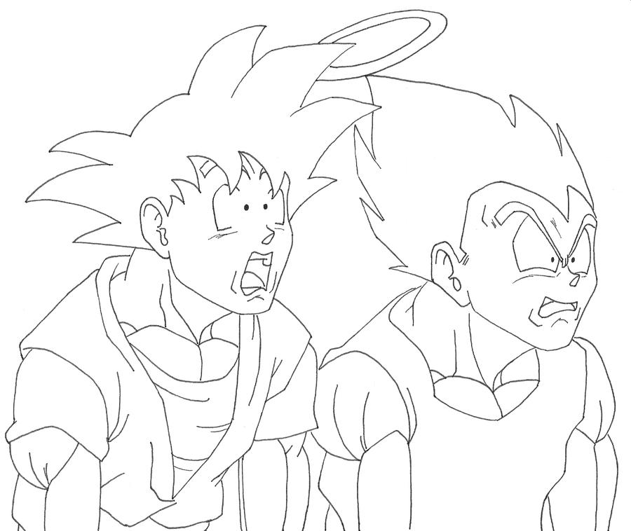 900x758 Goku And Vegeta Inside Buu By Osoroshiiyasai