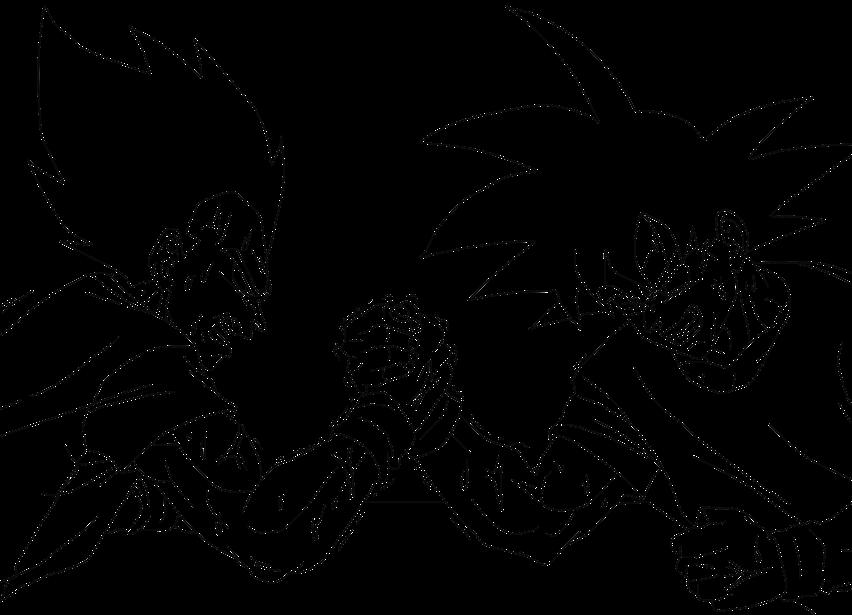 852x615 Goku E Vegeta By Blaackz