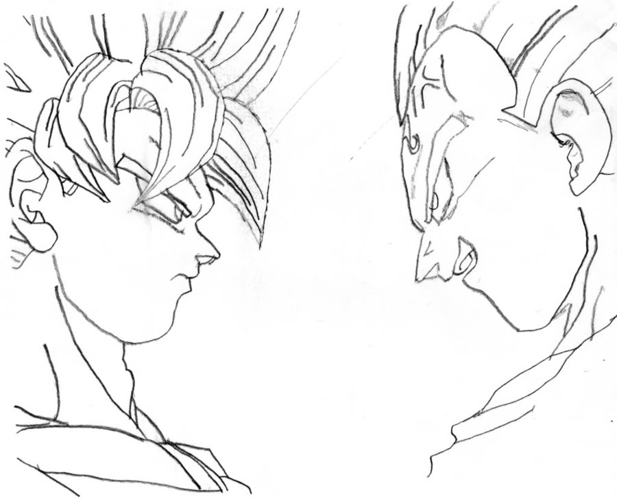 Goku And Vegeta Drawing At Getdrawings Com Free For Personal Use