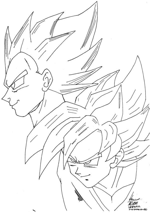 600x848 Vegeta And Goku By Yashwarran