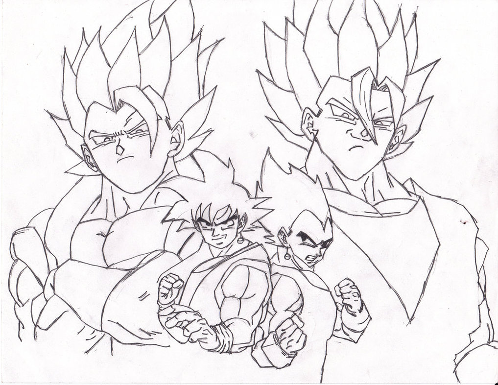 1017x786 Fusion Compilation Goku And Vegeta Wip 1 By Prabhatjanamanchi