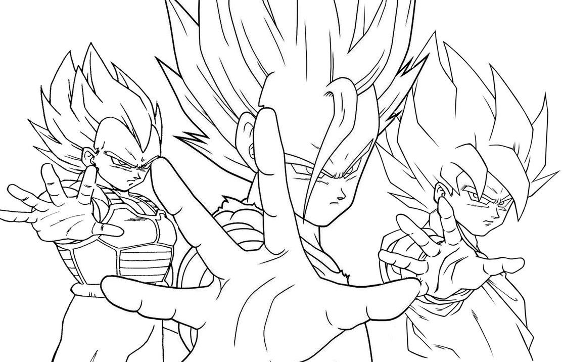 1114x716 Goku Gohan And Vegeta By Chriki93