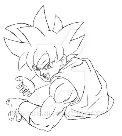 400x447 Goku Ultra Instinct Sketch In Progress By Aashananimeart