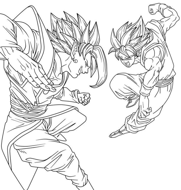 736x776 Goku Vs Zamasu By Saodvd