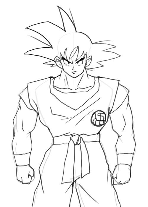 500x700 How To Draw Goku