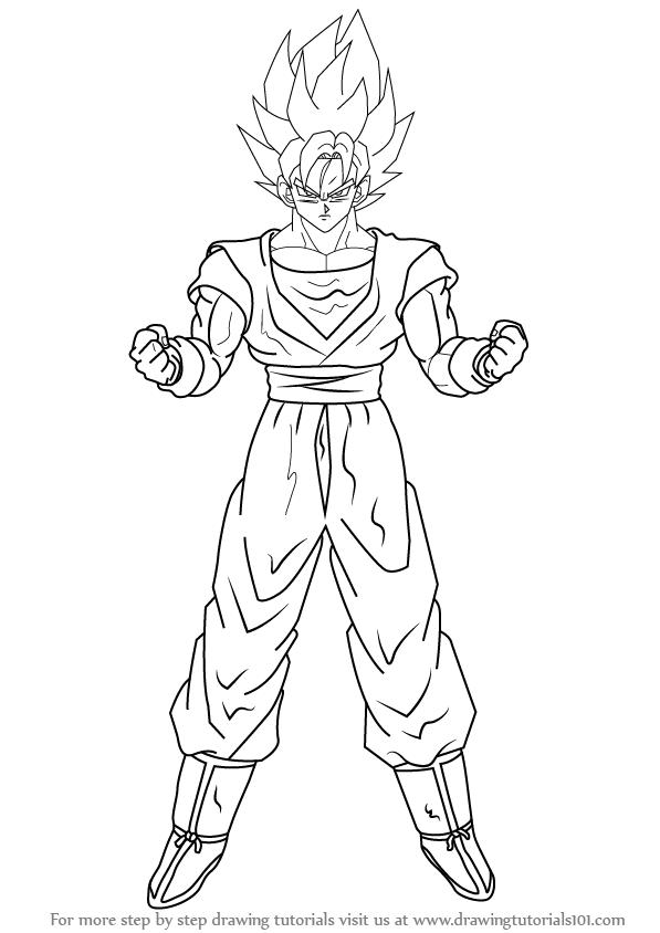 597x844 Learn How To Draw Goku Super Saiyan From Dragon Ball Z (Dragon