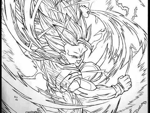 480x360 Sketch Drawing Goku Ssj 3