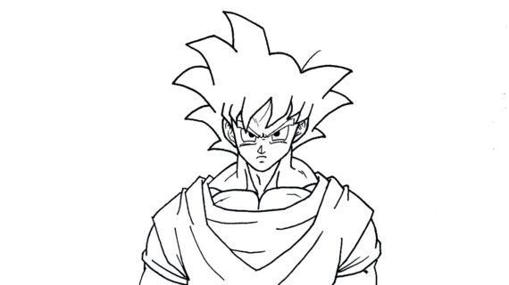 570x320 Dragon Ball Z Goku Drawing