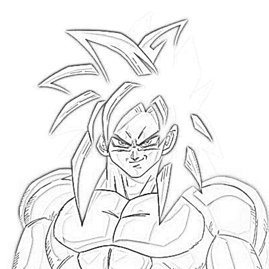 894x894 Super Saiyan 4 Goku Drawing By Nitinrajput90