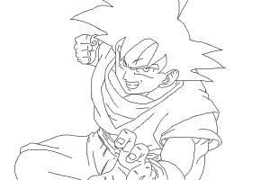300x200 How To Draw Goku