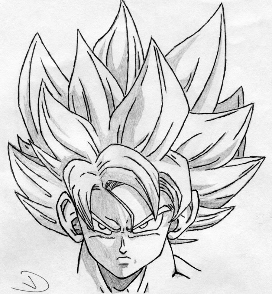 900x970 Goku Face Drawing Super Saiyan Super Saiyan Goku By