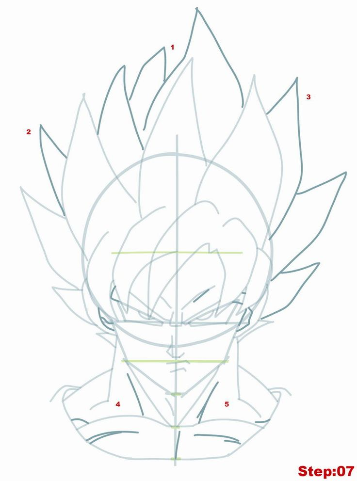 736x992 Draw Goku Step By Step