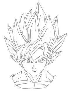236x318 Drawing Goku Super Saiyan From Dragonball Z Tutorial Dragonball