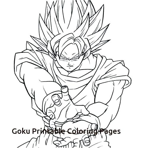 500x500 Goku Coloring Pages Printable Coloring Pages Of Printable Coloring