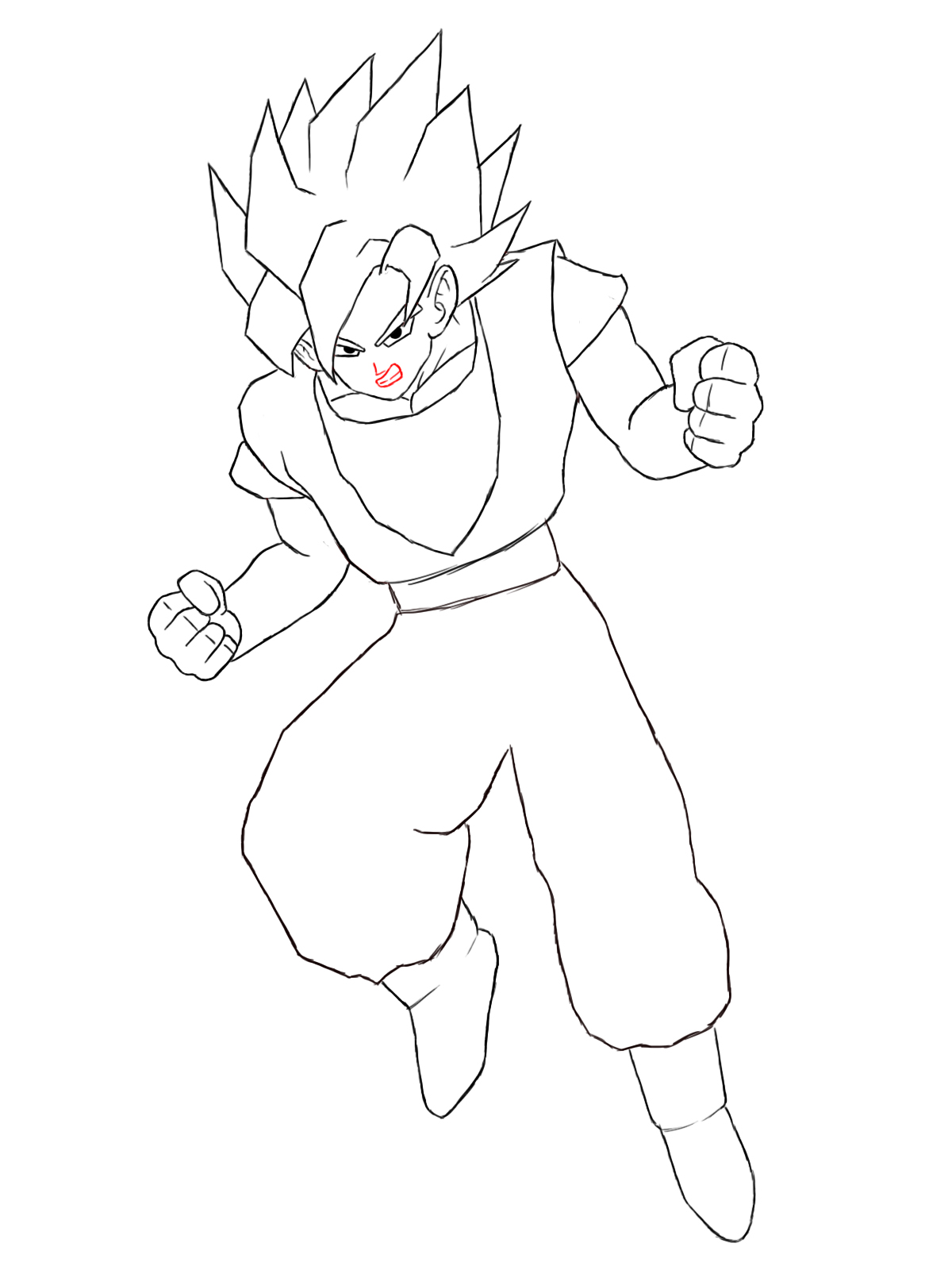 1200x1600 How To Draw Goku