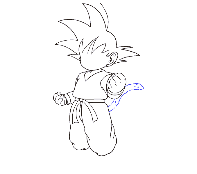 678x600 How To Draw Goku In A Few Easy Steps Easy Drawing Guides