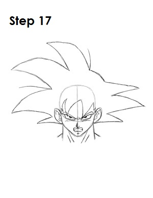 300x388 How To Draw Goku