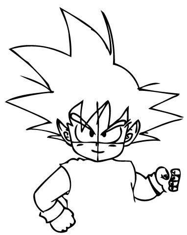 382x481 How To Draw Son Goku As A Child From Dragon Ball Z With Drawing