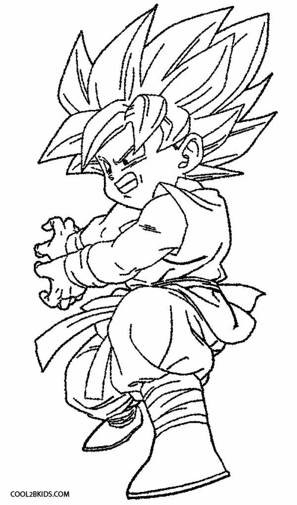 600x1020 Coloring Pages For Boys Goku Printable Coloring Pages For Kids