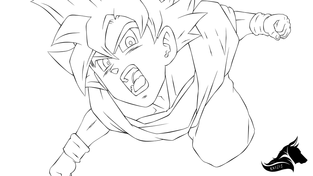 1024x576 Drawing Goku Super Saiyan From Dragonball Z. Kid Goku Coloring