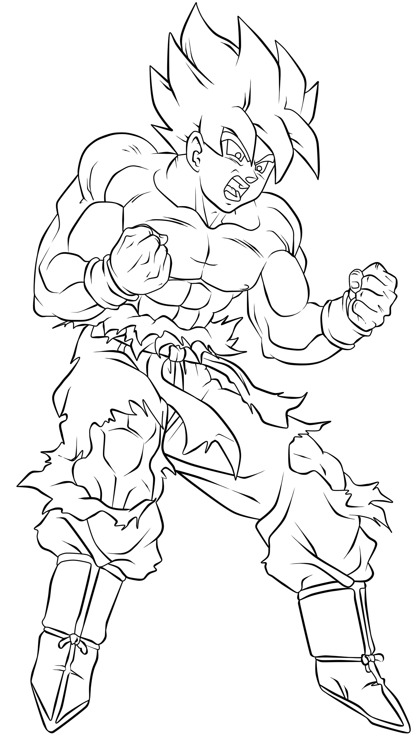 1332x2397 Image Titled Draw Goku Step 30. Vectors Archive Anime Forum Dot