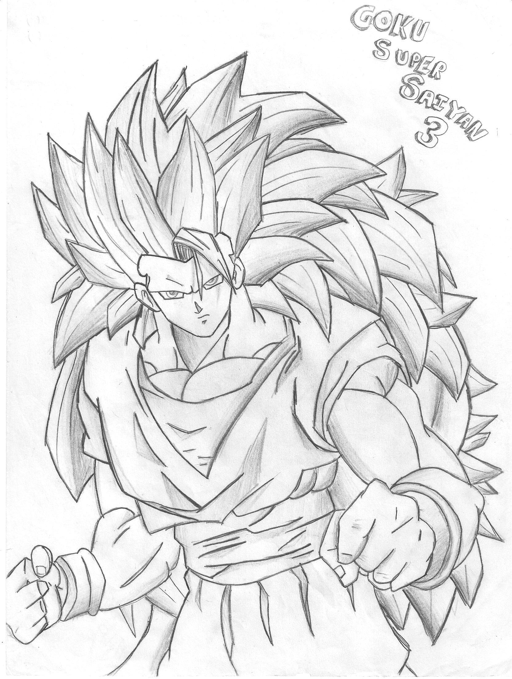 1664x2208 Draw Dragon Ball Z Goku