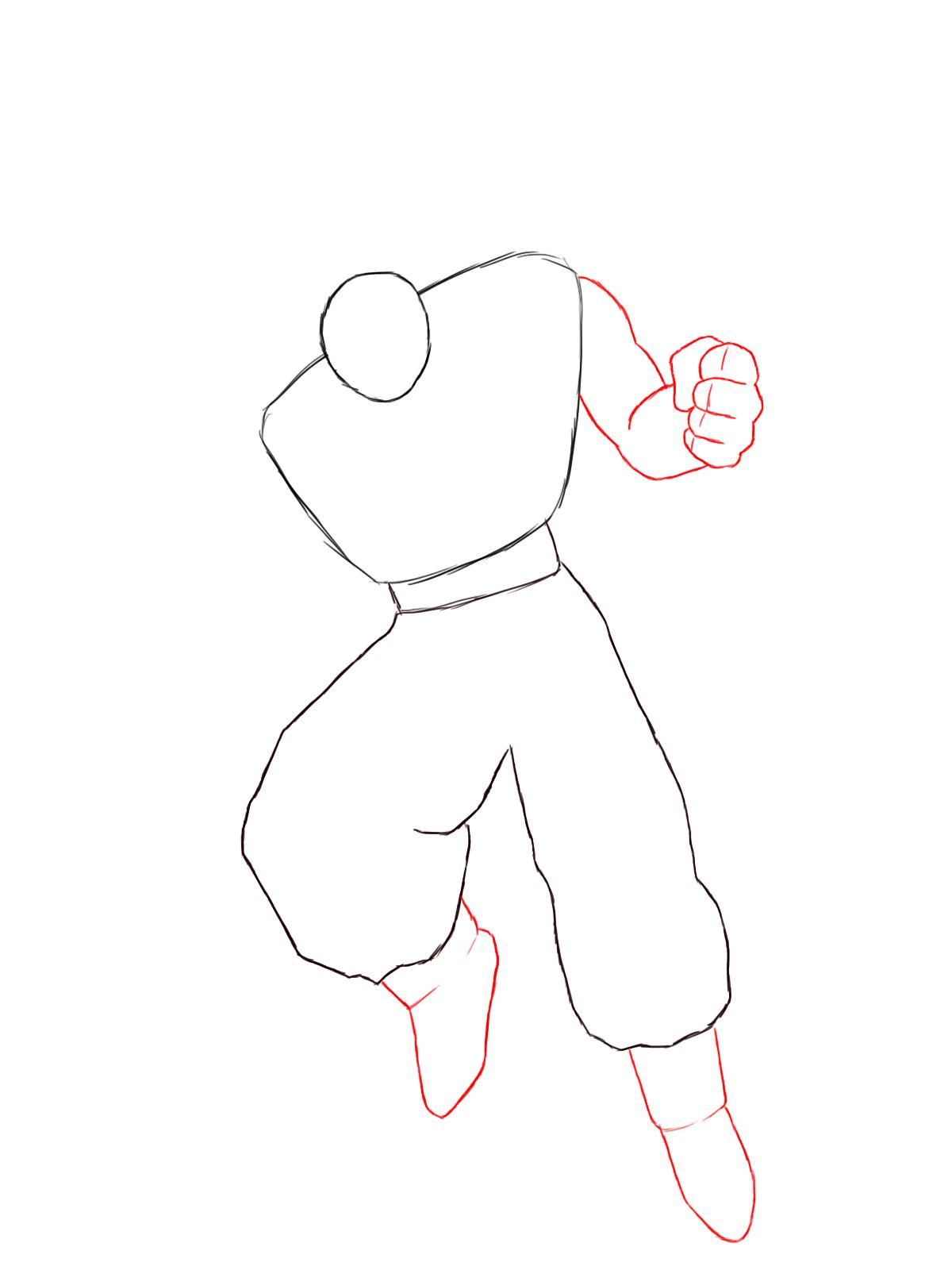 1200x1600 How To Draw Goku