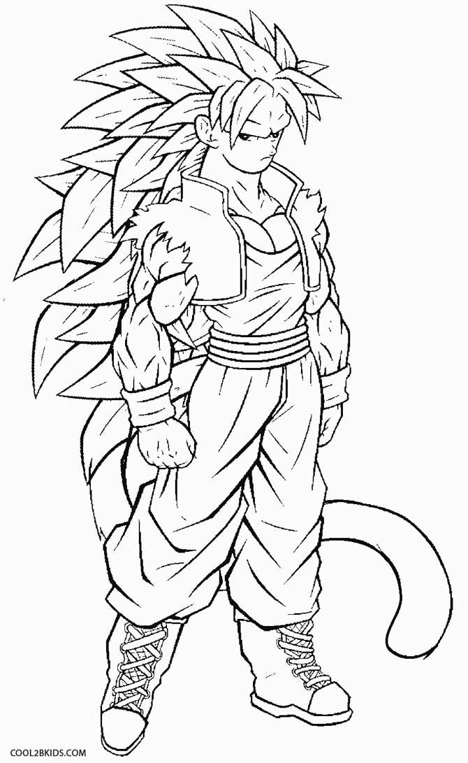 670x1091 How To Draw Goku Super Saiyan 4 Coloring Page Free Download