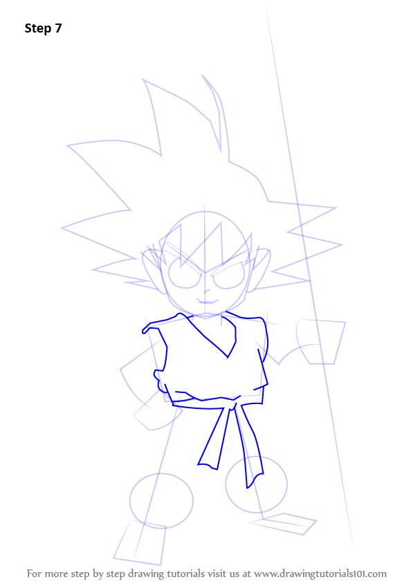 597x844 Learn How To Draw Son Goku From Dragon Ball Z (Dragon Ball Z) Step