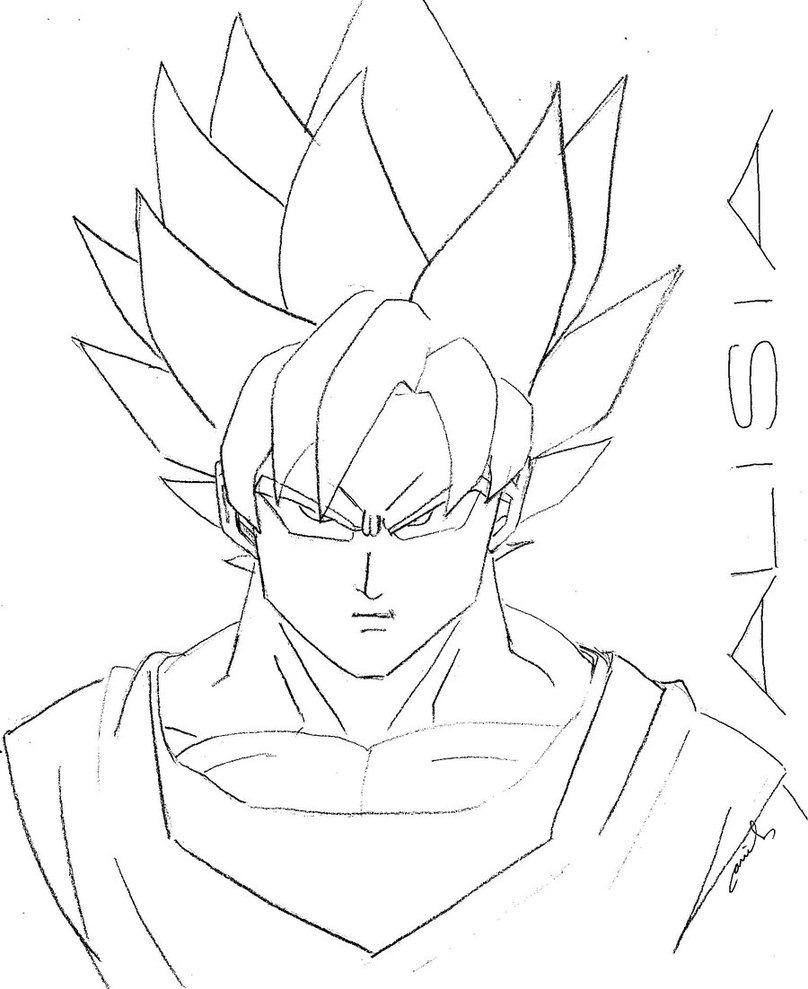 808x989 Super Saiyan Goku By Ariel Conde