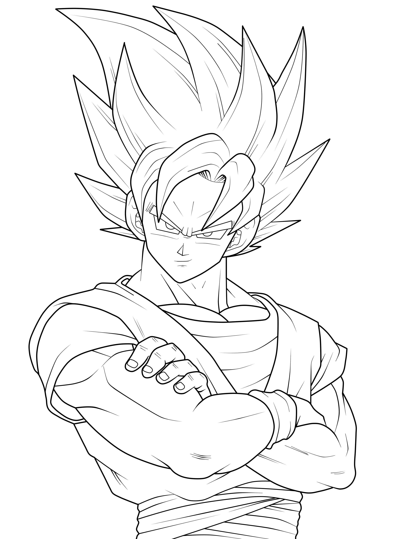 2249x3025 Coloring Pages Goku 3 Jane Baker Goku
