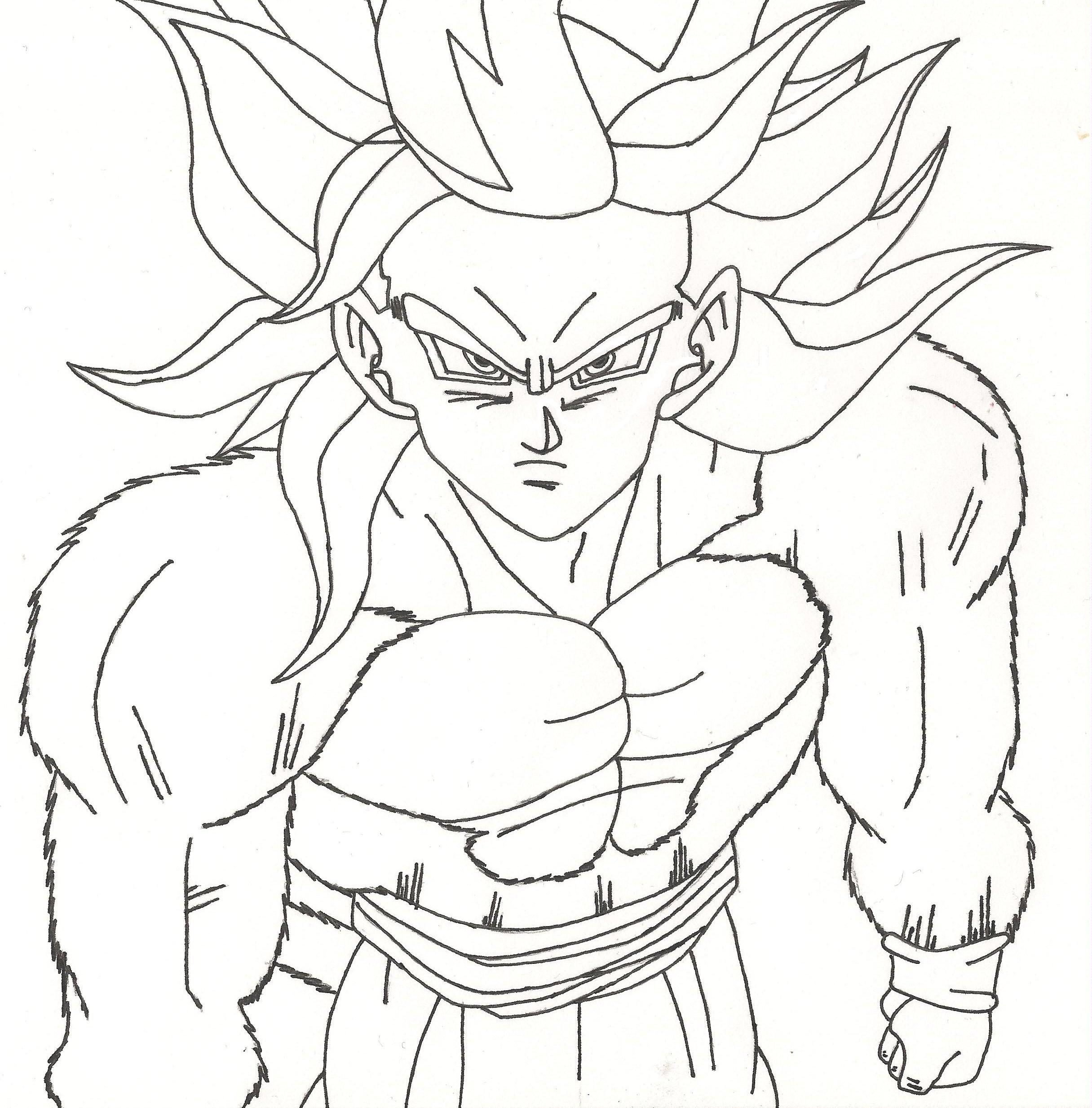 Goku Drawing Step By Step At Getdrawings Free Download