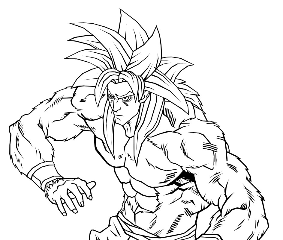 943x802 Goku Super Saiyan 4 By Neoluce