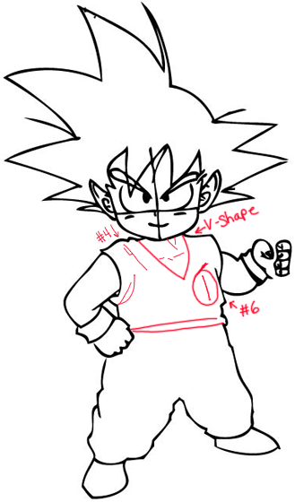 329x560 How To Draw Son Goku As A Child From Dragon Ball Z With Drawing