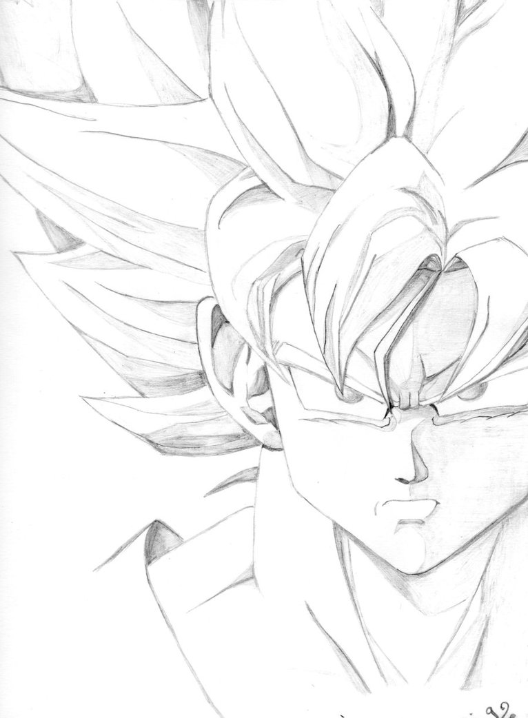 766x1042 Goku Face By Kris5080