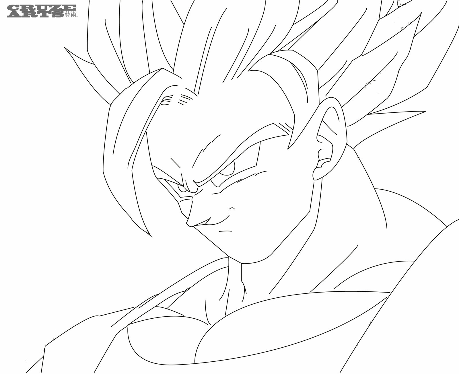 1600x1304 Super Saiyan Goku Coloring Pages Super Saiyan Goku Coloring